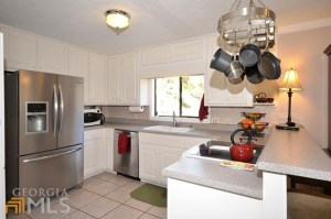 Not a ton of counter space with no place for the microwave. (Source: MLS Listing)