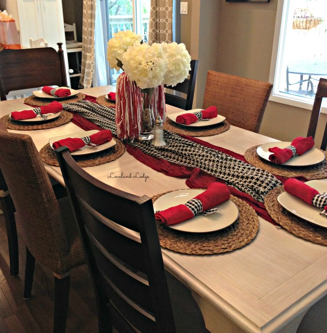 Alabama table setting